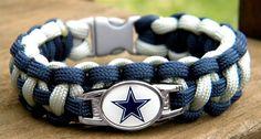 Custom Handmade Football Team Paracord Bracelet by knotcreations, $17.00