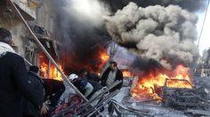 Zeker 90 doden bij aanval Aleppo