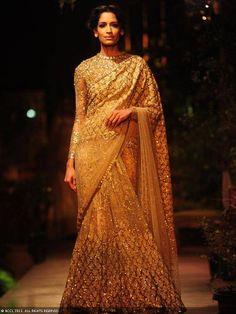 Sabyasachi sari at Delhi Couture Week 2013.