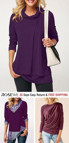 be55832362 34 Best purple tops images | Ladies fashion, Fashion women, Female ...