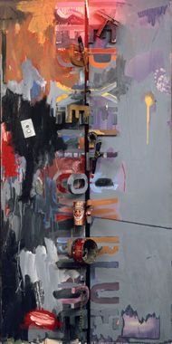 Jasper Johns / Field Painting / 1963-1964 / oil on canvas with objects