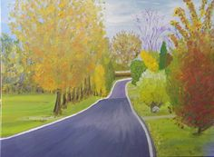 """24"""" X 30"""", Oil on Canvas, """"Around the Bend"""" Original by Paul Brown"""