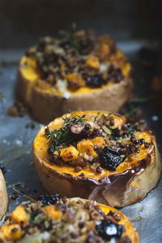 Filled with all the flavours of Christmas, this Simply Festive Stuffed Squash is a completely delicious but lighter twist on the Christmas Roast christmas food vegetarian Thanksgiving Recipes, Fall Recipes, Holiday Recipes, Whole Food Recipes, Cooking Recipes, Healthy Recipes, Vegetarian Christmas Recipes, Holiday Appetizers, Vegetarian Dinners
