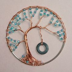 """Get great recommendations on """"metal tree sculpture"""". They are accessible for you on our site. Wire Crafts, Jewelry Crafts, Handmade Jewelry, Wire Wrapped Jewelry, Wire Jewelry, Beaded Jewelry, Jewellery, Silver Jewelry, Wire Necklace"""