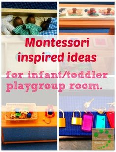 Montessori Inspired ideas for infant / toddler playgroup room. Montessori Nature Blog