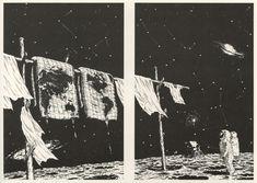 Genpei Akasegawa, magazine illustration, late 70s