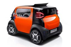Citroen has marked its year of car-making by releasing the Citroen AMI ONE concept -- the first of two concept that provide its vision of the future. Citroen Concept, Concept Cars, Citroen France, Design Autos, Auto Design, Peugeot 3008, Microcar, Smart Fortwo, Nissan Qashqai