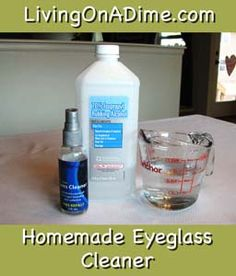 Homemade Eyeglass Cleaner Recipe: did a bit of double checking & found the same recipe. So I feel this is a good one to use then.