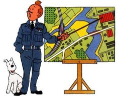 Tintin instructing Bomber Command. That is indeed an RAF uniform. ...what I find interesting about the series of illustrations that Herge did for Tintin recounting aviation history is that Herge is aware of the cultural distinction of facial expression, gesture, and demeanor.