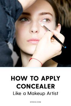 The best way to apply concealer