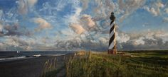 "Guardian of the Atlantic on Canvas Art for Sale - <p>""Guardian of the Atlantic"" Art- The end of summer has come to Cape Hatteras signaled by long shadows, shortening days, and seed heads atop dried sea oats. This is hurricane season, though, and the action here has only just begun.</p>  <p>-Comes with certificate of authenticity-</p>"