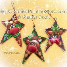 Rusty Reindeer Ornaments - Sharon Cook - PDF DOWNLOAD