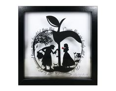 Snow White Apple Papercut