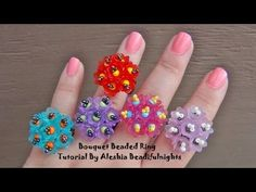 Bouquet Beaded Ring Tutorial - YouTube