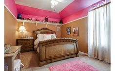 Great paint idea! Give a girl pink without painting the whole room
