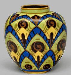 Art Deco Vase by Charles Catteau ca.1930 #art Deco