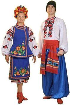 Рисунки украинский костюм