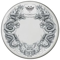 New! Remo Tattoo Drum Heads.  http://www.interstatemusic.com/12117-Remo-Tattoo-Dragon-Skyn-Suede-14-And-quot-Snare-Drum-Head-TT0814AXT06.aspx