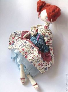 Купить Кончитттта! интерьерная кукла - текстильная кукла, авторская работа, фламенко, оригинальный подарок