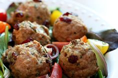 Turkey Meatballs With Sage And Cranberries Recipes — Dishmaps
