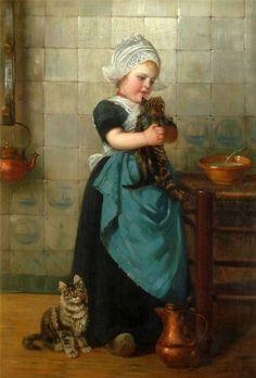 Edmond Louyot (Metz 1861-1920) Der kleine Pfeifenraucher, signiert Ed. Louyot