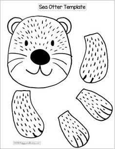 Stuffed Paper Bag Sea Otter Craft with Printable Template