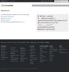 error 404 page of Stackoverflow | Antara's Diary