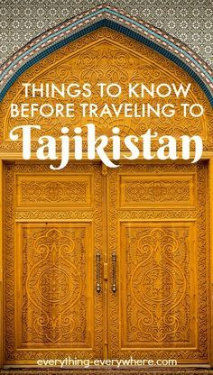 Tajikistan is a culturally rich, landlocked country in Central Asia.  Plan your trip to Tajikistan with these useful travel guide!