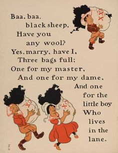 William Wallace Denslow's illustrations for Baa, Baa, Black Sheep, from a 1901 edition of Mother Goose. William Wallace, Nursery Rhymes Poems, Old Mother Hubbard, Baa Baa Black Sheep, Kids Poems, Silly Poems, Children Songs, Kids Music, Illustrator