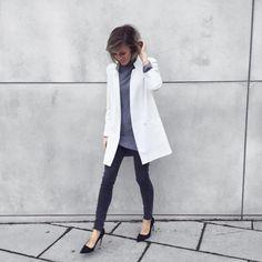 white blazer by vickywanka