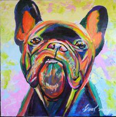 Bulldog Frances - Pintura Acrilica