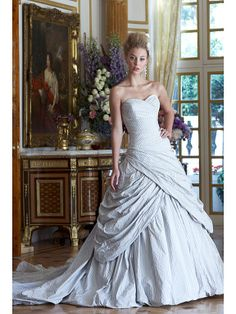 "Ian Stuart Marie Antoinette-inspired Revolution collection: ""Libertine"". ...menswear stripes on a wedding dress, are you kidding me? Marie Antoinette? I'm in love. I'm sure it's only a million billion dollars."
