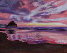 Sunset Reflective Surf by DSC Arts