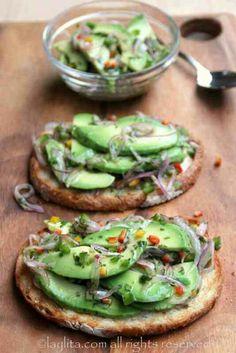Laylita's recipes: avocado crostini or avocado bruschetta
