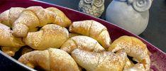 Rogaliki z budyniem i marmoladą - Blog z apetytem Pretzel Bites, Bagel, Doughnut, Blog, Bread, Brot, Blogging, Baking, Breads