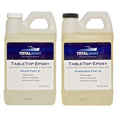 Amazon.com: Epoxy Table Top Resin, 1:1, 1 Gallon Kit, Crystal Clear, Parts A & B Included: Industrial & Scientific
