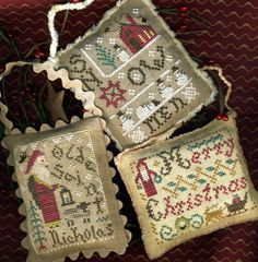 2014 Annual Ornaments #christmas #ornament #crossstitch
