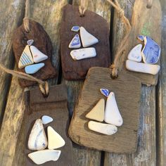More sail boat driftwood hangings made up ⚓️