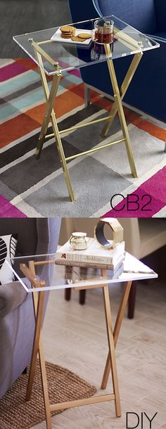 Make this $149 CB2 Tray for $30 | Kristi Murphy | http://www.kristimurphy.com/blog/diy-tv-tray
