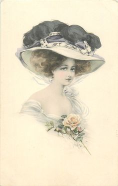 "Photo from album ""vintage ladies"" on Yandex. Vintage Abbildungen, Vintage Ephemera, Vintage Girls, Vintage Beauty, Vintage Postcards, Vintage Prints, Victorian Hats, Victorian Women, Female Images"