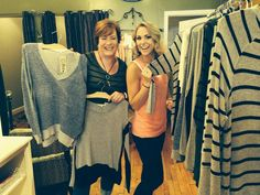 Sue and Lauren loving our new Red Haute collection for Fall!