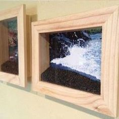 Here's a fun way to remember a family beach trip or vacation - Put a picture of the beach you visited in a shadow box frame and fill the bottom with sand from that beach. Love this idea!!