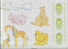 Varios Animales en punto cruz | Punto de cruz - Colección de ...