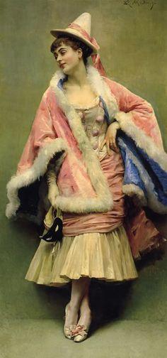 Pierrette (exh.1878).Raimundo de Madrazo y Garreta (Spanish, 1841-1920). Oil on canvas. Pierrette is extremely characteristic of Madrazo&#...