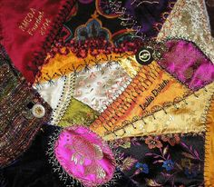 I ❤ crazy quilting & embroidery . . .  bb block2 ~By Pinyon Creek Stitchin'