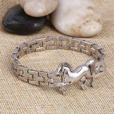 Stainless Steel horse bracelet - The Horse Barn
