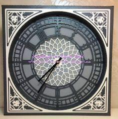 Karins-kortemakeri: Big ben klokke Smash Book, Big Ben, Cricut, Clock, Wall, Watch, Clocks
