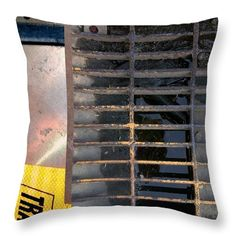 Urban Abstracts Seeing Double 37 Throw Pillow by Marlene Burns