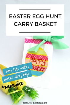 DIY Easter Egg Hunt Carry Baskets. This Easter Egg Hunt Carry Basket is seriously easy and a great little craft activity to fill in a quiet afternoon. | NANNY SHECANDO