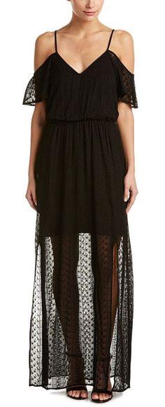 Ella Moss Cold-Shoulder Silk Maxi Dress
